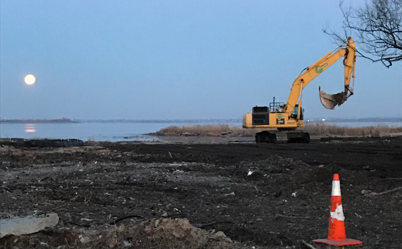 Construction of the Saltwater Marsh and Coastal Upland Area in Sunset Cove Park