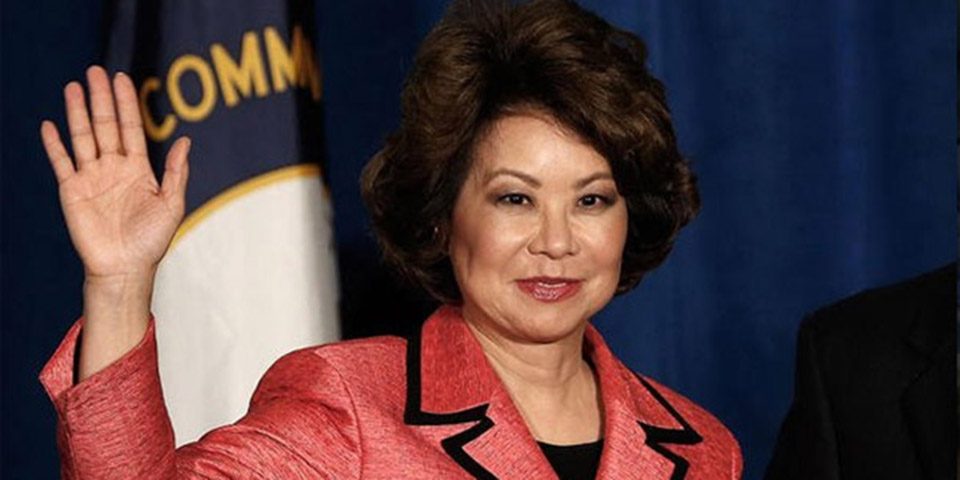 President-elect Trump Has Chosen Elaine Chao as Transportation Secretary