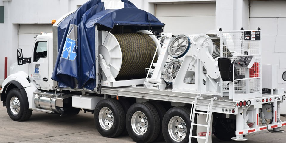 Haugland Energy Leverages In-house HPFF Cable Installation Experts with TSE-UP 800 Underground Line Puller